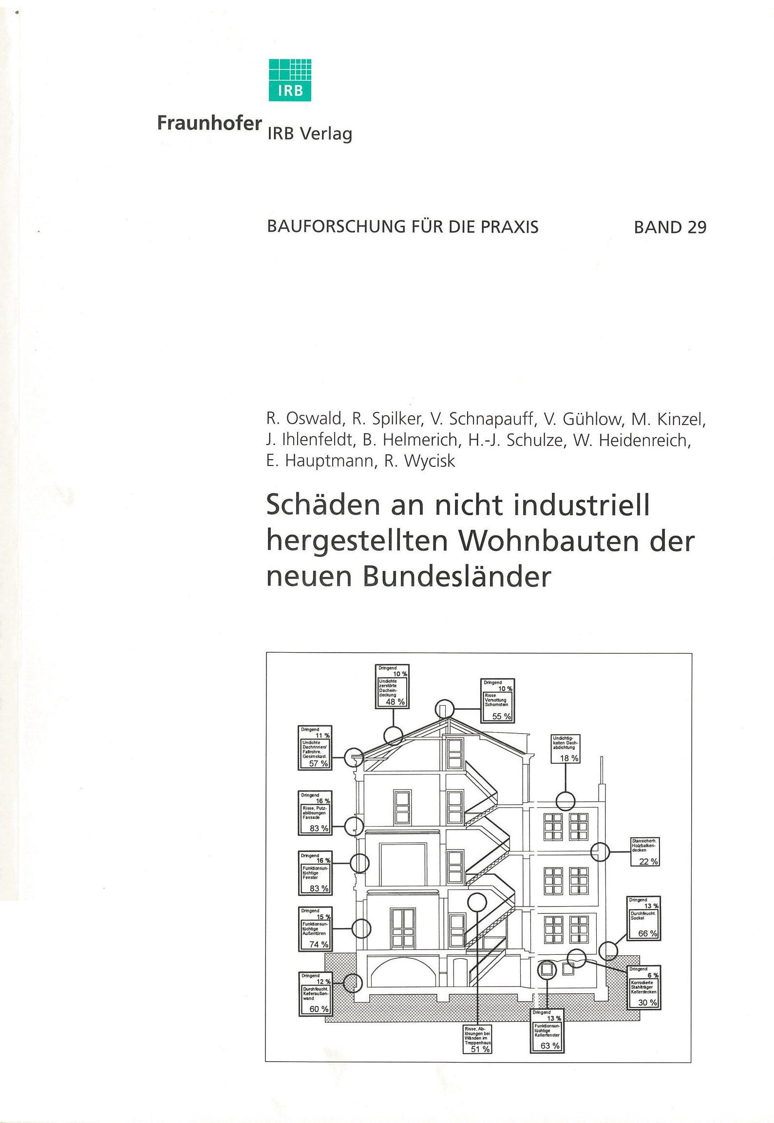 Schäden an nicht industriell hergestellten Wohnbauten der neuen Bundesländer