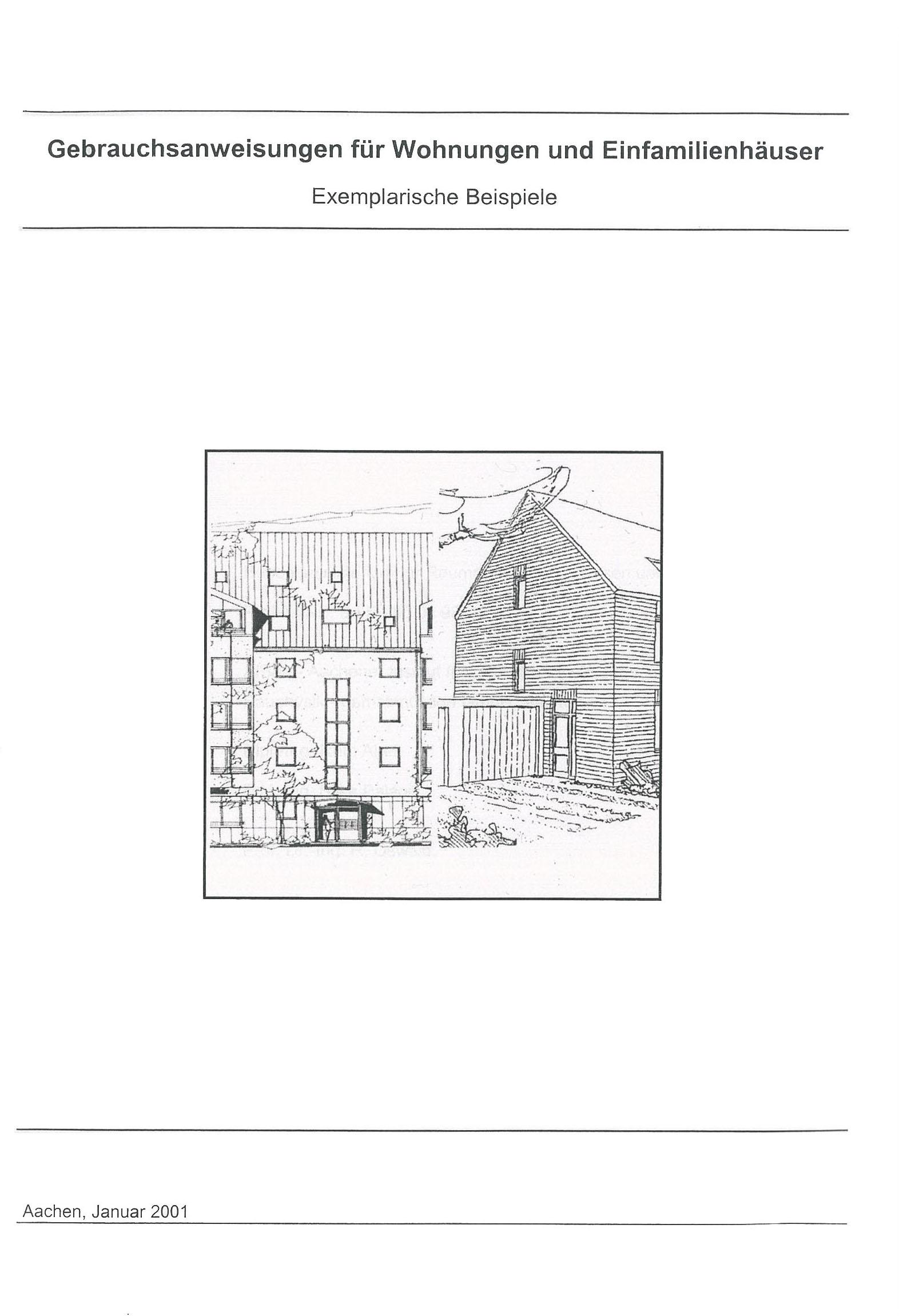 Gebrauchsanweisungen für Einfamilienhäuser – Exemplarische Beispiele