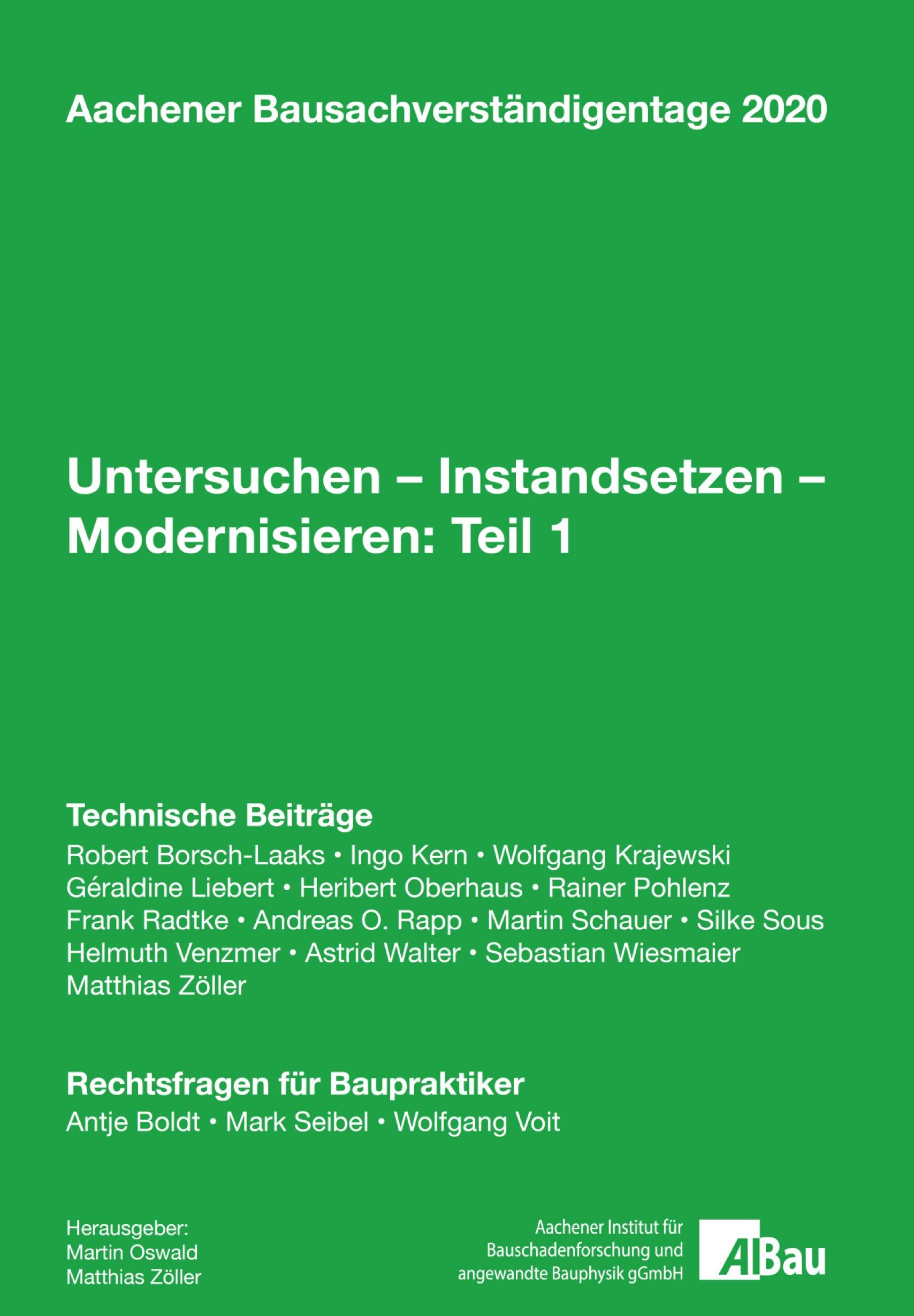 Untersuchen – Instandsetzen – Modernisieren: Teil 1